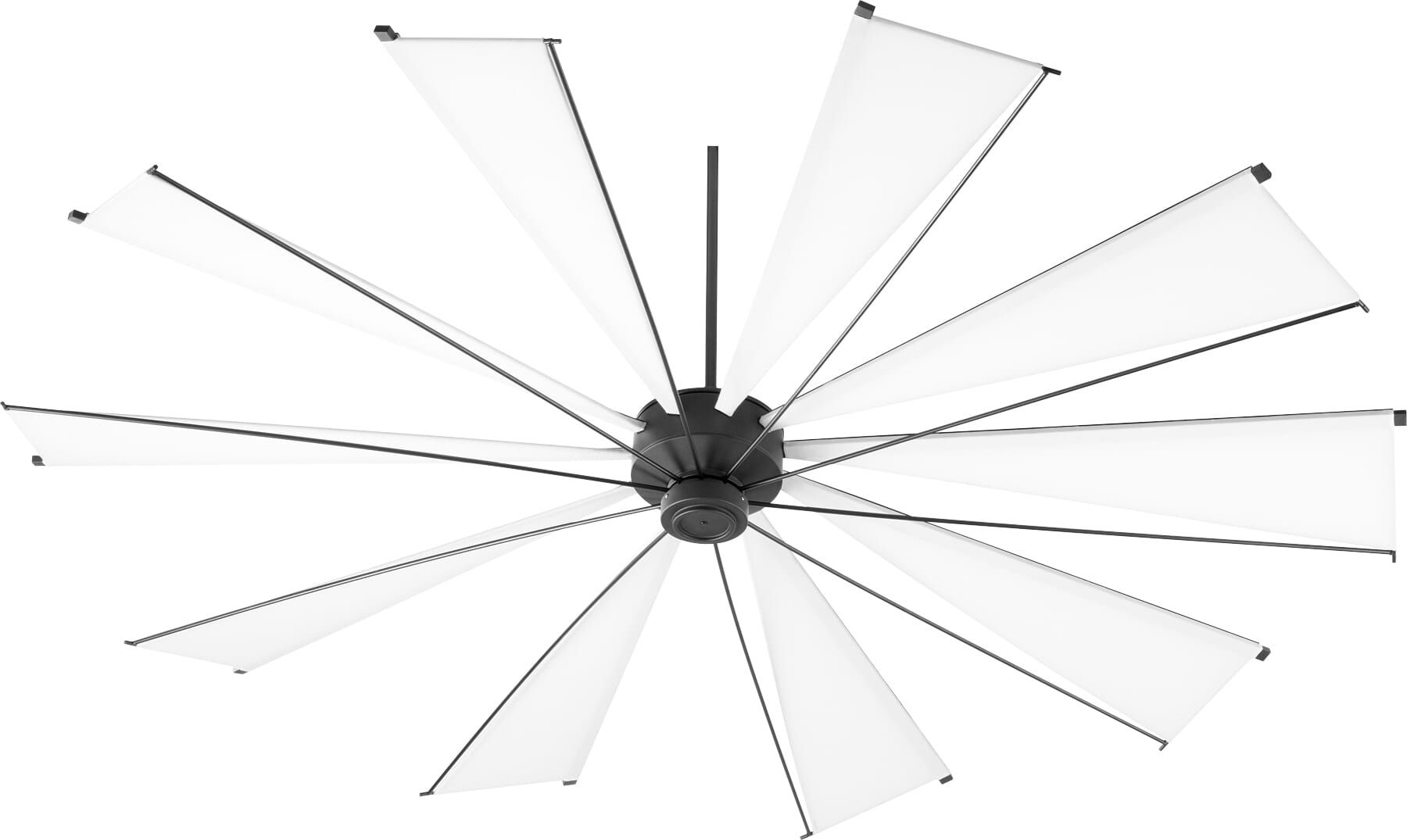 Quorum Mykonos 92 Indoor Outdoor Ceiling Fan In Noir