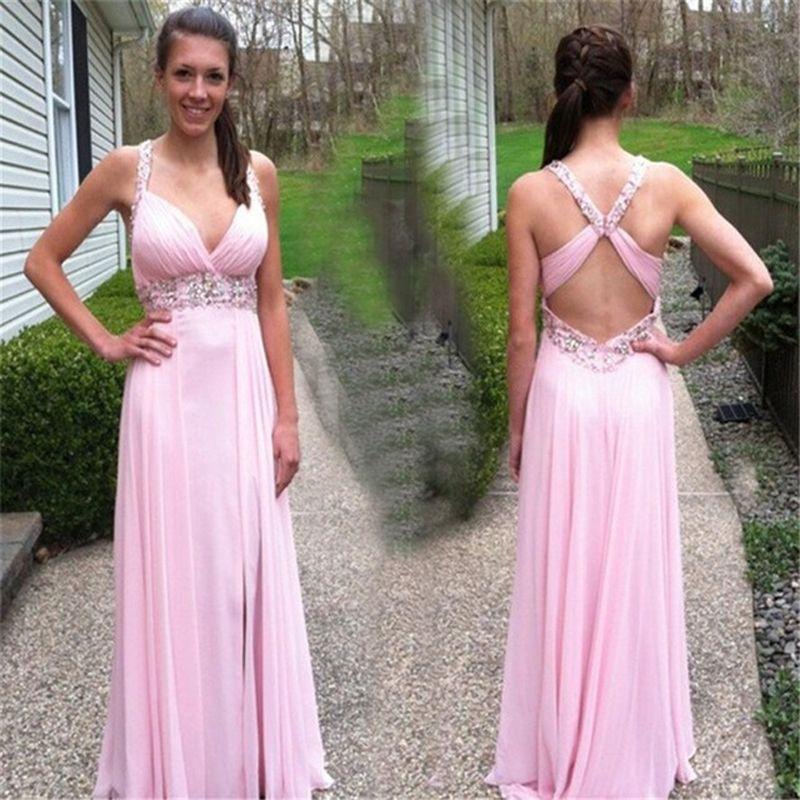 Sexy Deep V-Neck Backless Prom Dress 2016 Vestido De Festa De ...