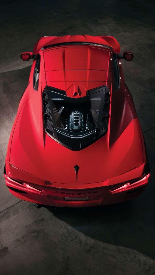 2020 Chevrolet Corvette Top Rear View Jpg Motor Trend Staff Chevrolet Corvette Stingray Corvette Stingray Corvette