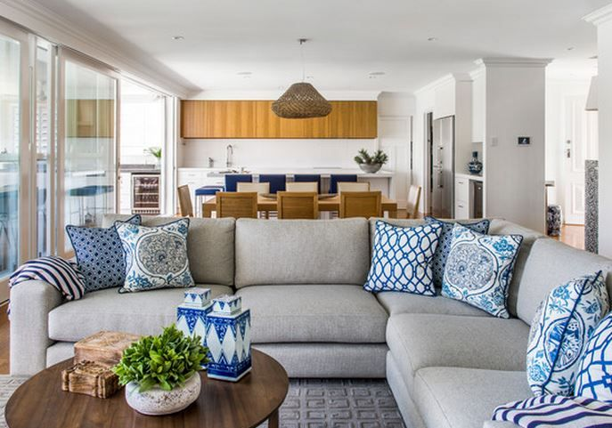 d coration bleu et gris id e decoration salon gris blanc et bleu deco maison moderne d co. Black Bedroom Furniture Sets. Home Design Ideas