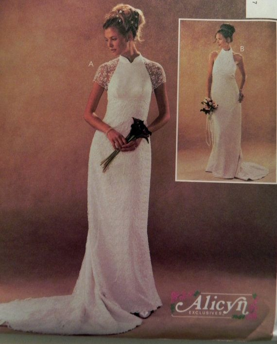McCall\'s 3933 Wedding dress sewing pattern Size 12-14-16-18 Bust 34 ...