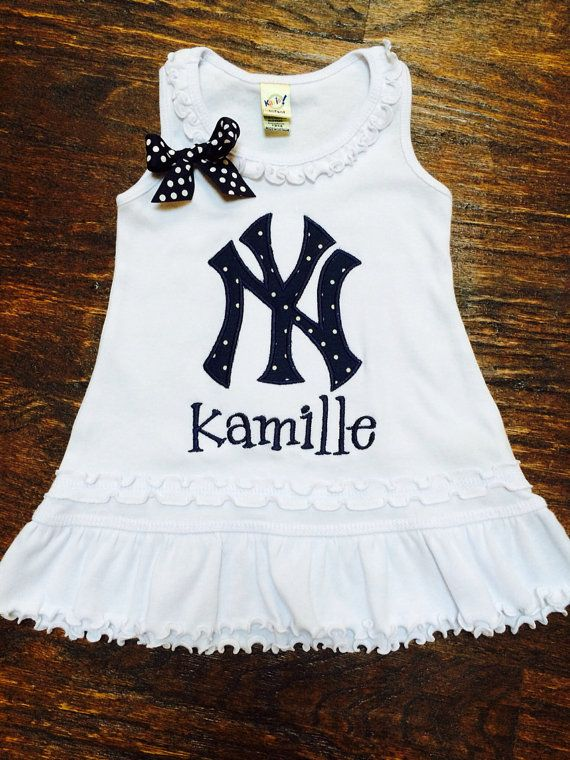 2c6306d4 New York Yankees Baseball Dress by AddieBelleBoutique on Etsy, $28.00