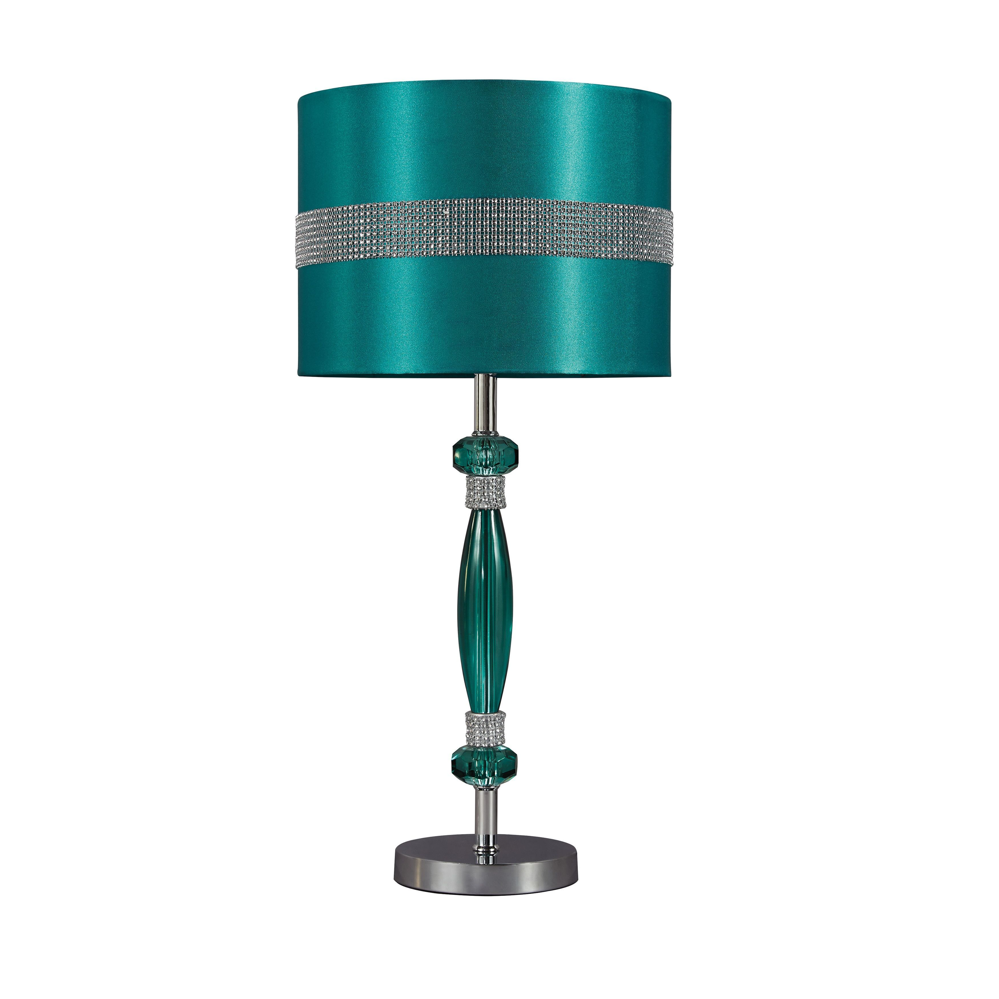 Pottery barn clift glass lamp ebay - Signature Design By Ashley 1 Light Teal Table Lamp