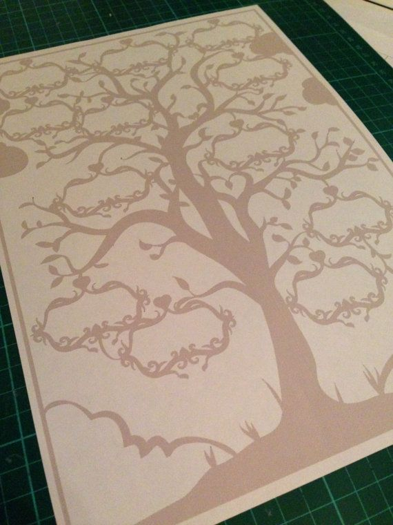 Family Tree Paper Cutting Template 12 Names By Bramblecrafts1