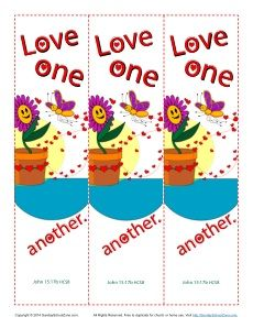 graphic about Love One Another Printable titled Delight in A single One more Printable Bookmarks for Small children Bible