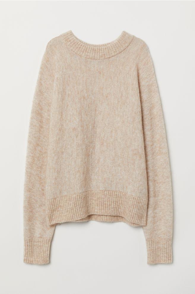 Pullover aus Mohairmischung   Свитер, Бежевый свитер