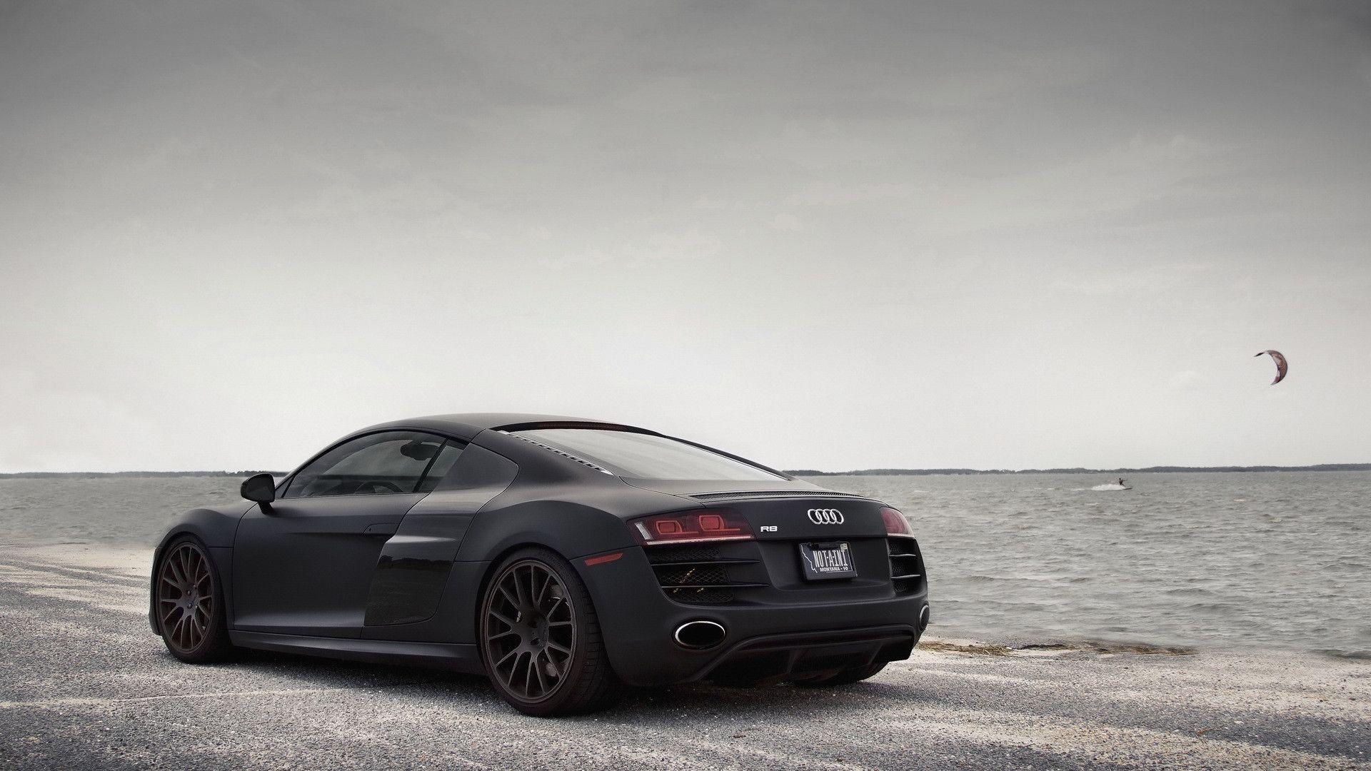 Audi R8 1920 X 1080 Audi Cars Audi R8 Matte Black Black Audi