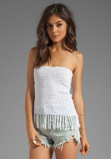 cbab39e8e Fringe Mini Top. INDAH Bronte Smock Fringe Mini Skirt in White ...