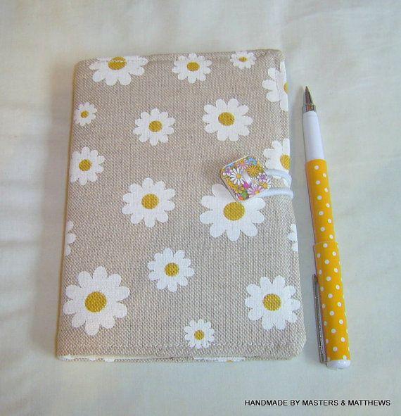 A6 Notebook A6 Journal Daisy Fabric Writing by Mastersandmatthews