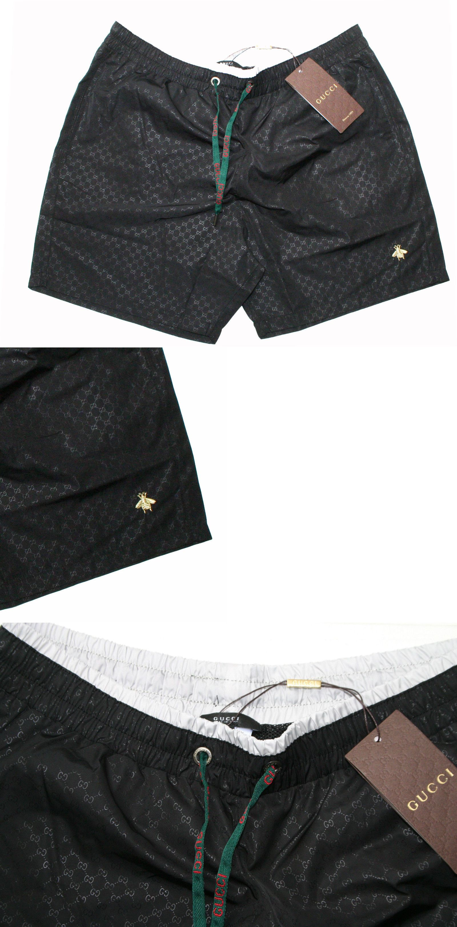 964e4bdcea Swimwear 15690: New Gucci Swim Wear Black Color Bee-Embroidered Men Short  -> BUY IT NOW ONLY: $69.99 on eBay!