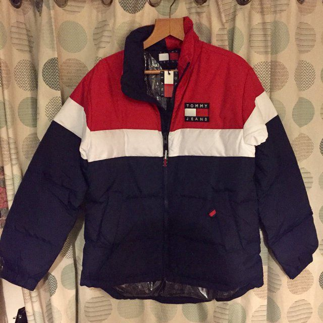6aa392ac Tommy Jeans capsule collection puffer jacket / coat. Sold out online. Urban  outfitters ASOS Tommy Hilfiger. Size men's small