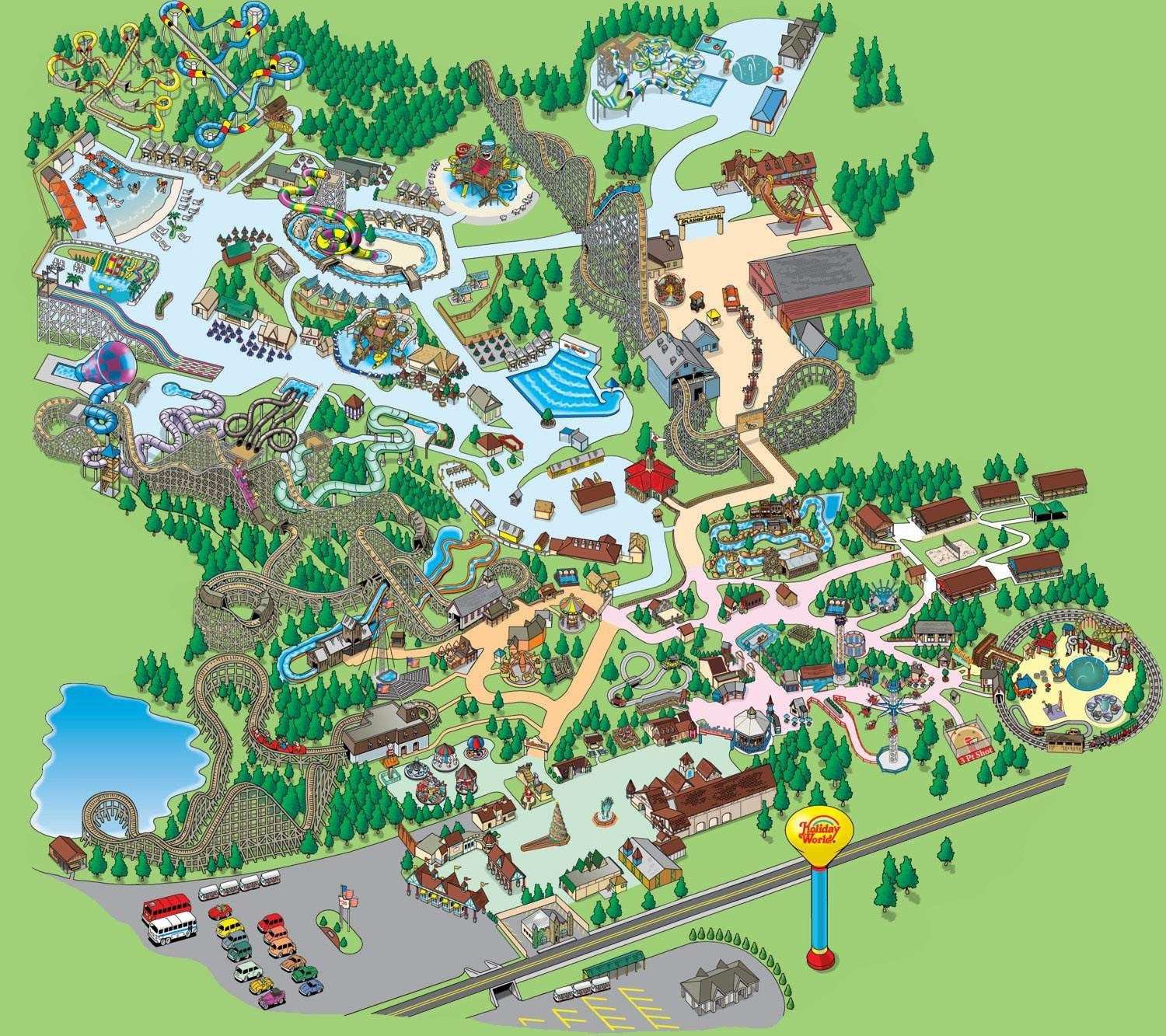 Holiday World Map Splashin' Safari Park Map | Travel destinations | Holiday world