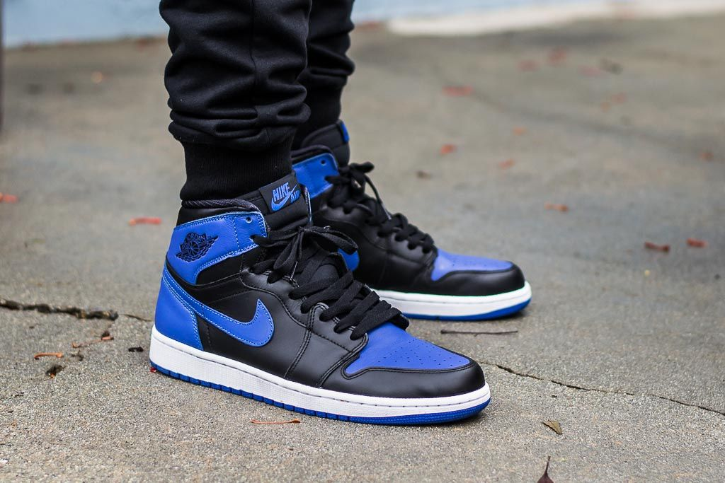 Air Jordan 1 High Og Royal On Feet With Images Sneakers Men