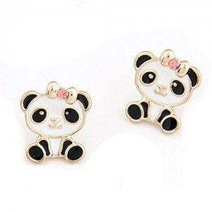 Locomo Women Cute Animal Panda Stud Earrings Jer036s01 0
