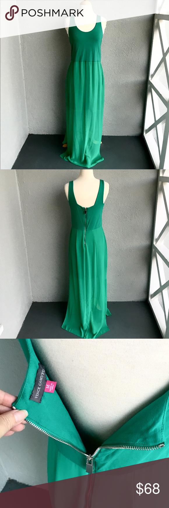 Vince Camuto Green Maxi Dress Size M Maxi Dress Green Green Maxi Clothes Design [ 1740 x 580 Pixel ]