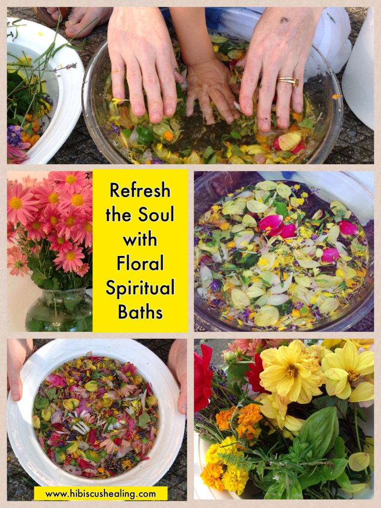 Learn How to Make Floral Spiritual Baths   Spells of Santeria and