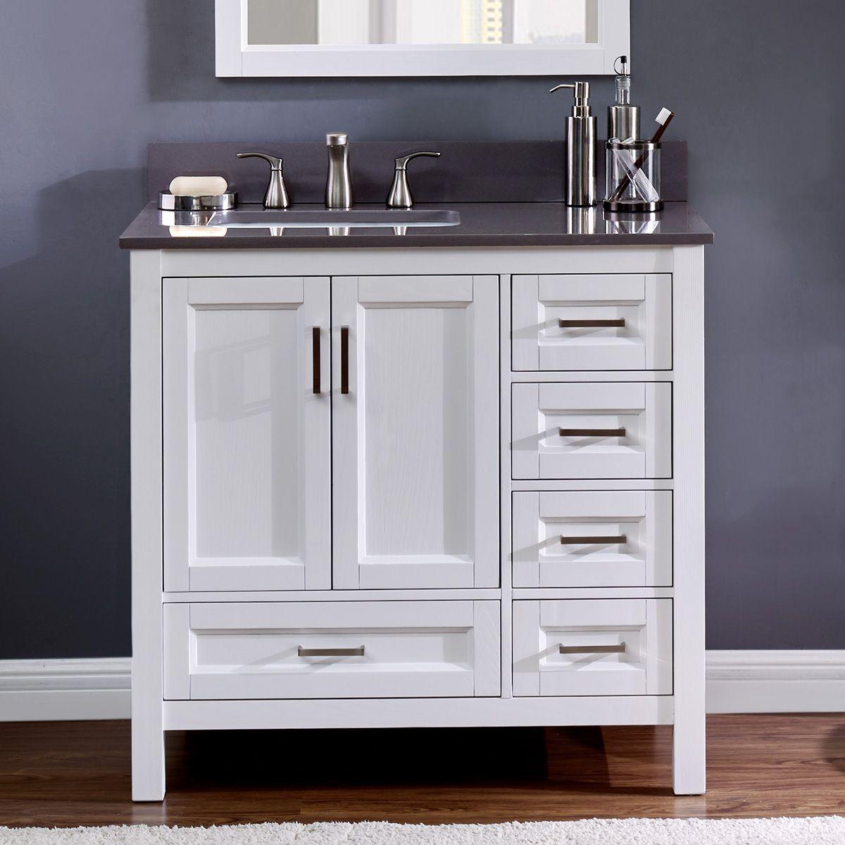 Durham 36 Inch Bathroom Sink Vanity Single Sink Bathroom Vanity Single Sink Vanity