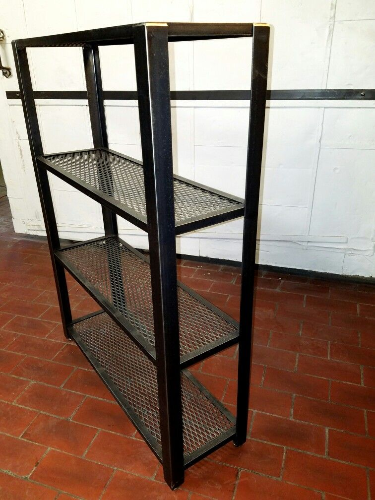 Medium mesh bookcase from reclaimed steel     Www http  etsy com     Medium mesh bookcase from reclaimed steel     Www http
