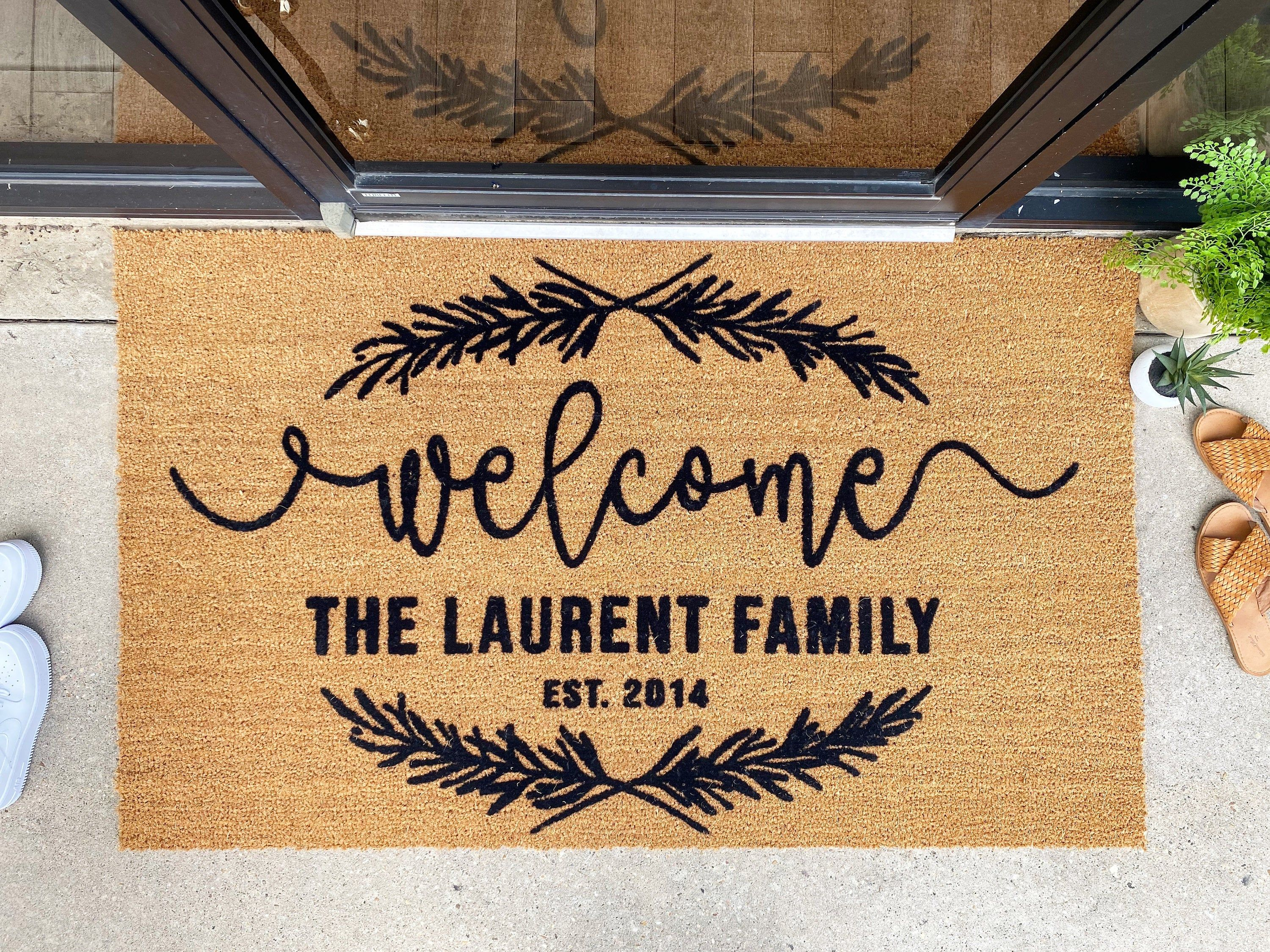 11++ Personalized welcome mats outdoor inspirations