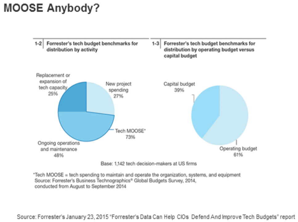 According To Forrester Organizations Are Spending 73 Of Their It