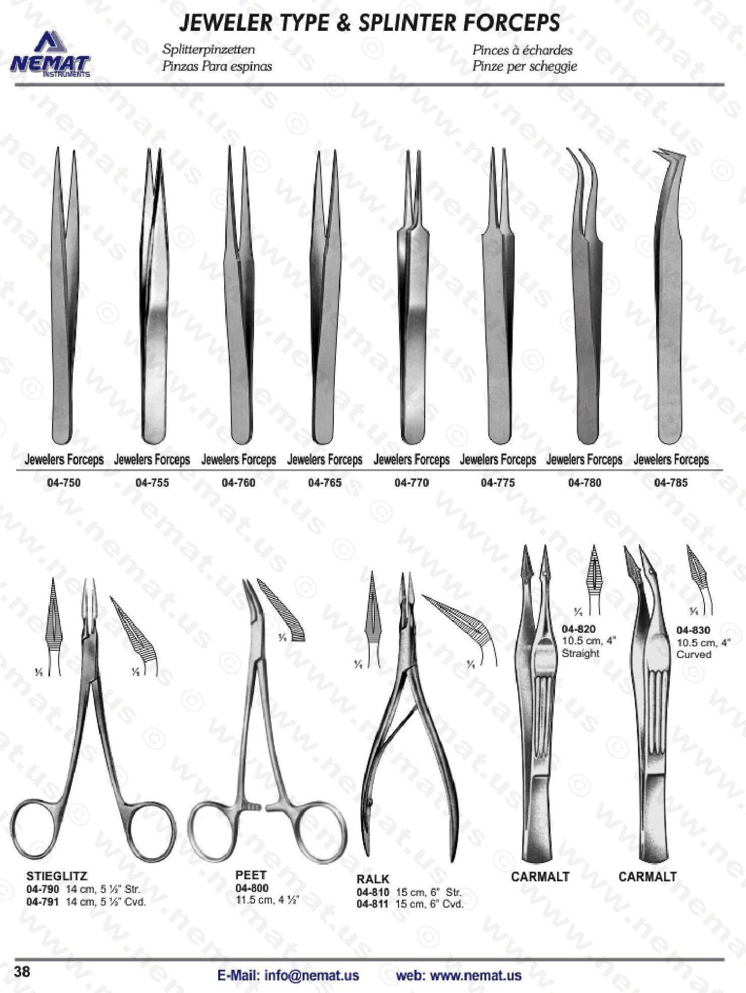 JEWELER TYPE, SPLINTER FORCEPS | E-Catalog Surgical Instrument