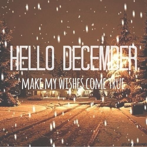 Hello December Make My Wishes Come True Month Quotes Happy Welcome