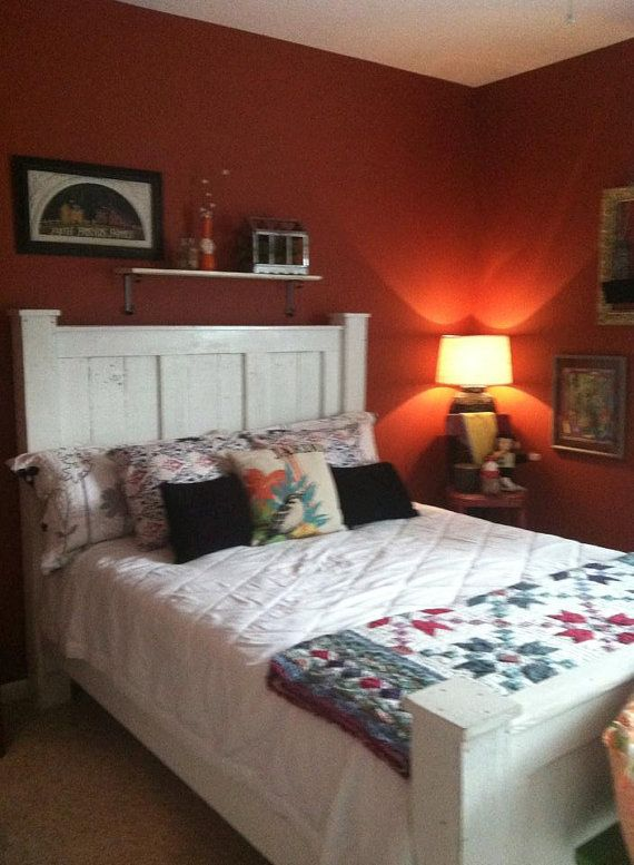Handmade wood bed frame/bedroom furniture/panel bed/queen size/king