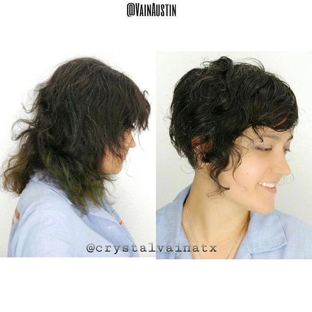 Haircut by Crystal #beforeandafter #hair #haircut #hairstyle #hairstylist #curls #curlyhair #cutehair #bob #shorthair #texture #waves #curlybob #kevinmurphy #austin #austinhair #austinhairstylist #austinhairsalon #vain #vainaustin #vainsalon #btcpics #modernsalon #hairenvy @crystalvainatx