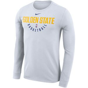 660cb8a4 Golden State Warriors Nike Dri-FIT Men's Long Sleeve Practice Tee - White