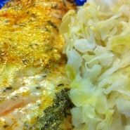 Thyme Roasted Salmon with Sauerkraut (alter for AIP)