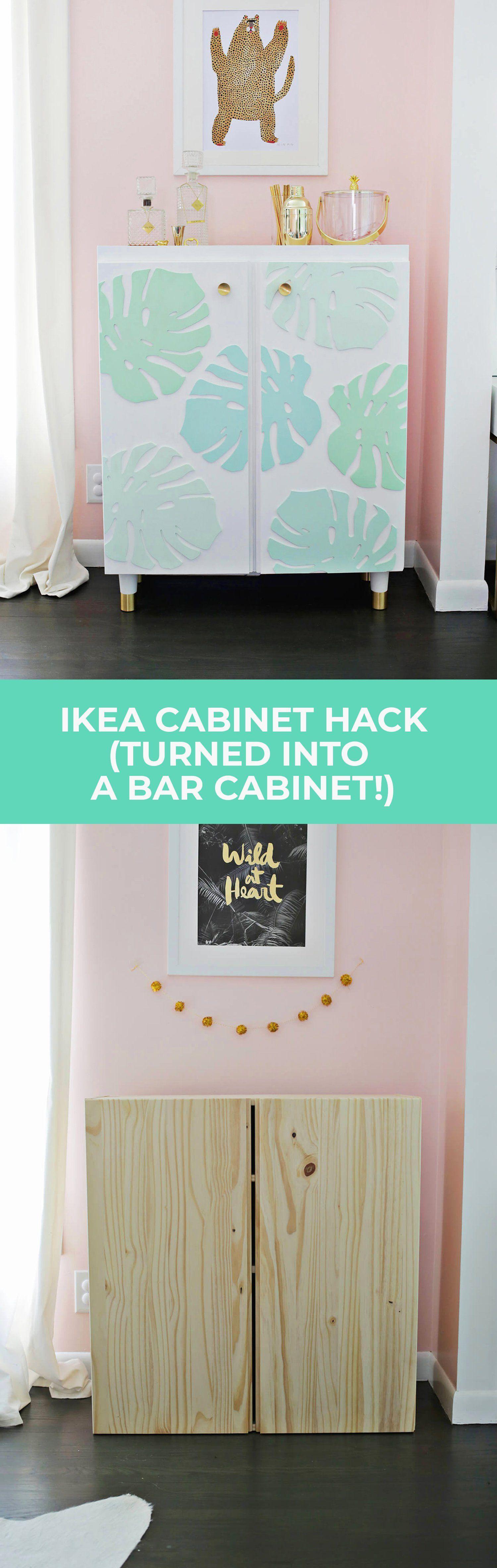 Ikea IVAR Cabinet Hack Turned Into A Bar Cabinet – A Beautiful
