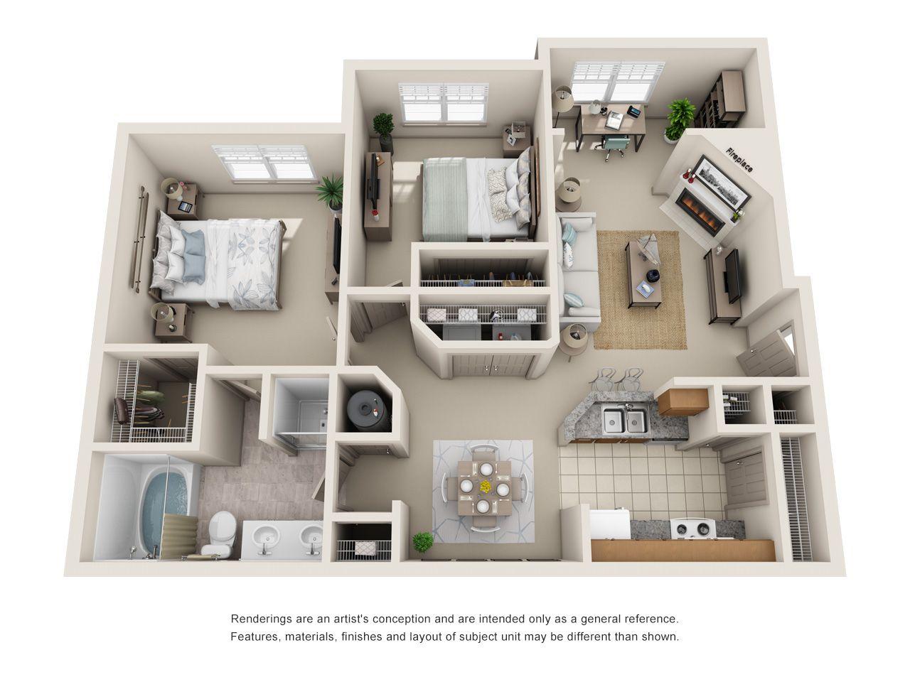 1 2 Bedroom Apartments In Lewisville Tx Floor Plans Lewisville Texas Apartment Stea 2 Bedroom Apartment Floor Plan Apartment Layout Apartment Plans