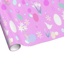 Pink easter eggs and tulips gift wrap gift wrap pinterest pink easter eggs and tulips gift wrap negle Images
