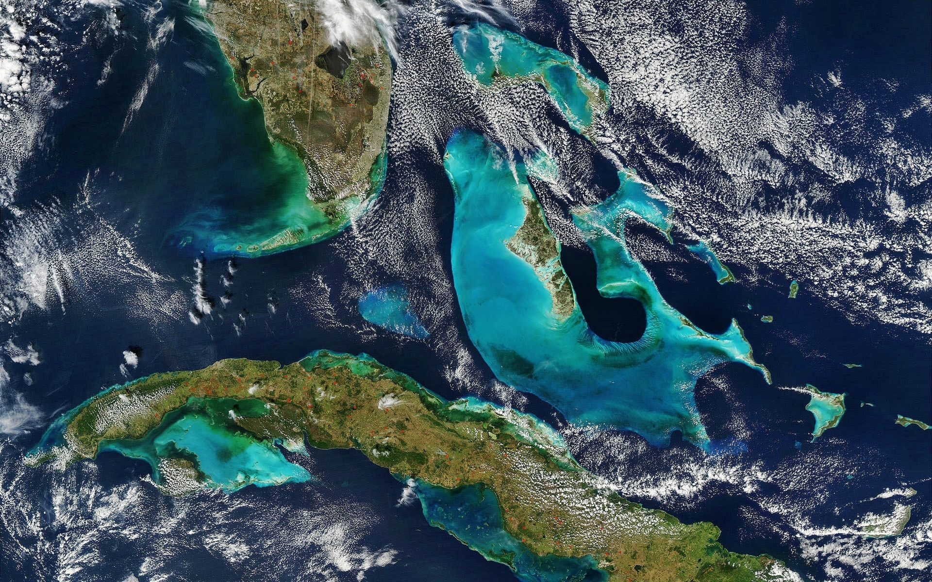 Bahamas Florida And Cuba View From Space (id 15784