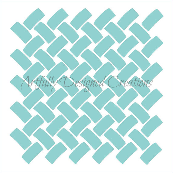 Cookie Stencil Basket Wave Background Cupcake Designs for air Brush Royal Icing