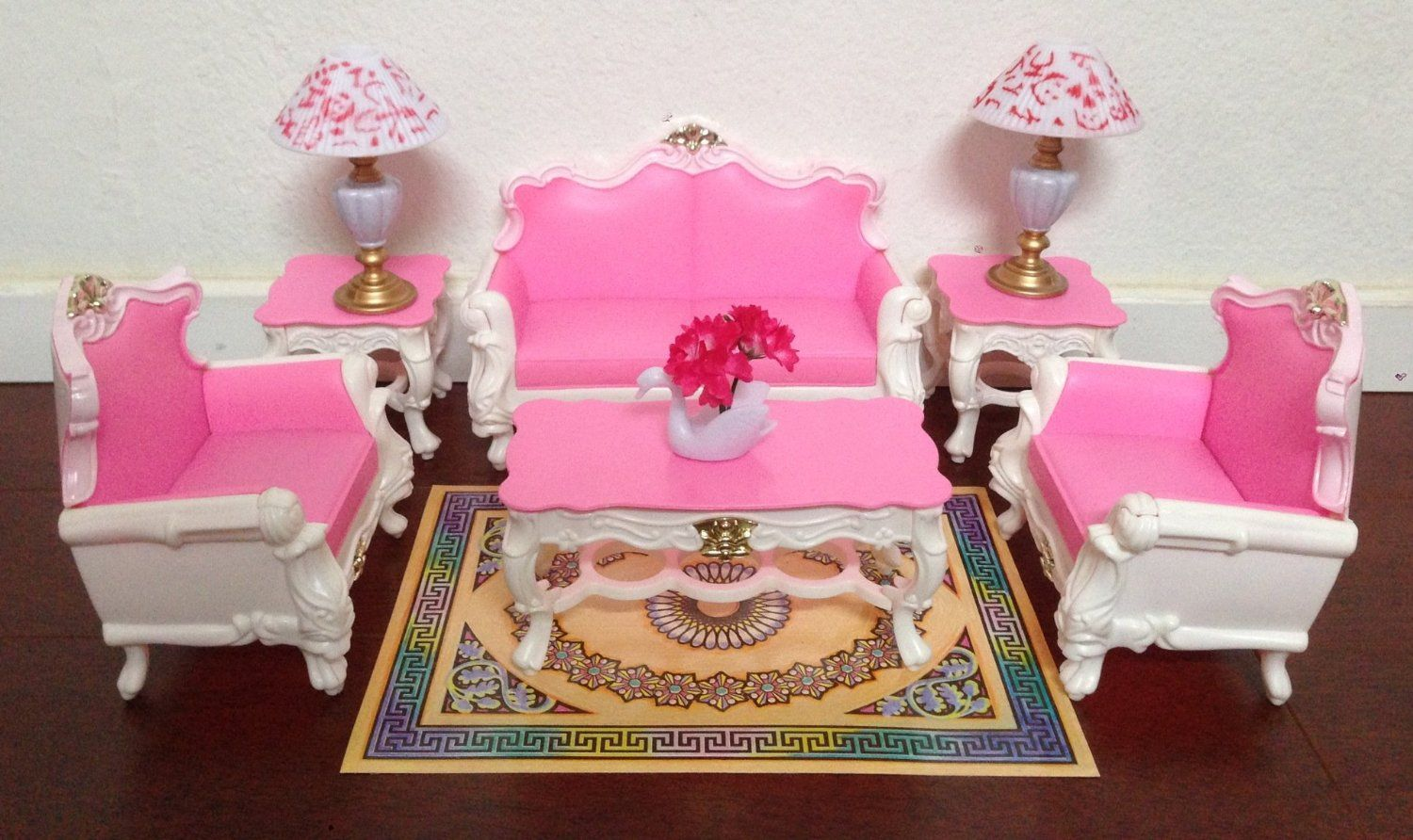 Amazon Gloria Barbie Sized Deluxe Living Room Furniture Accessories Playset Toys