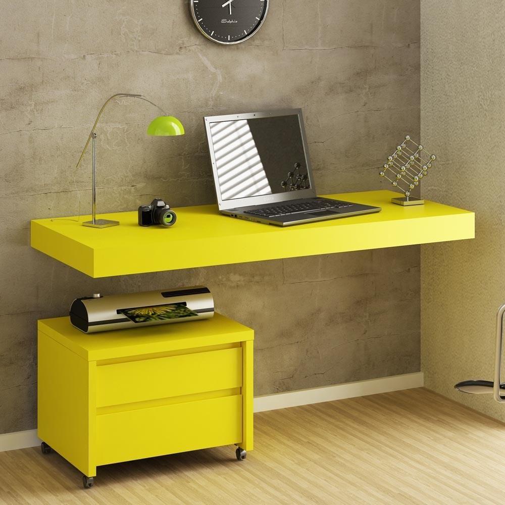Bancada de madeira em laca amarelo casatema m veis e - Mesas decorativas ...