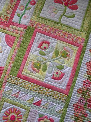 Gorgeous flower quilt detail