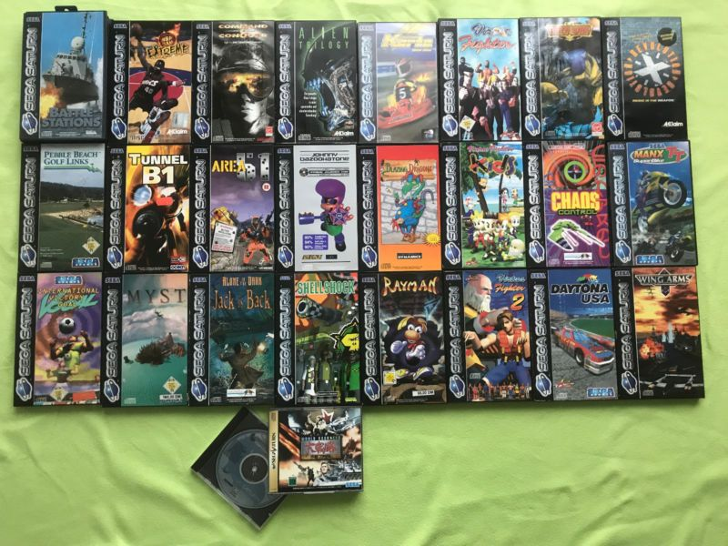 Sega Saturn Games #retrogaming...
