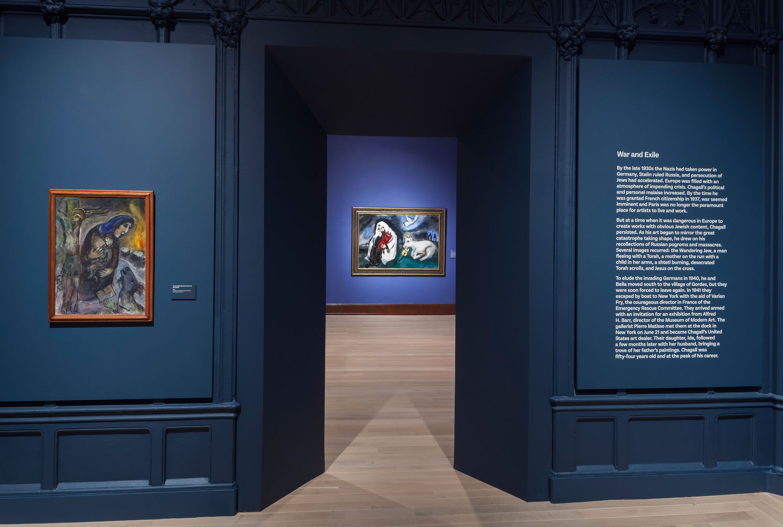 Chagall Love War And Exile Exhibition