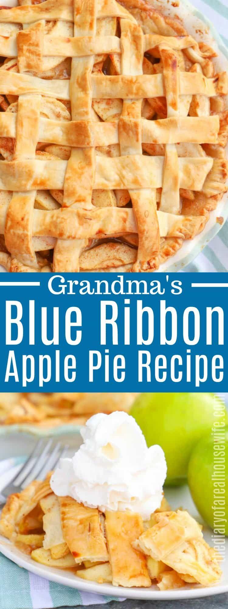 Blue Ribbon Apple Pie #applepierecipe