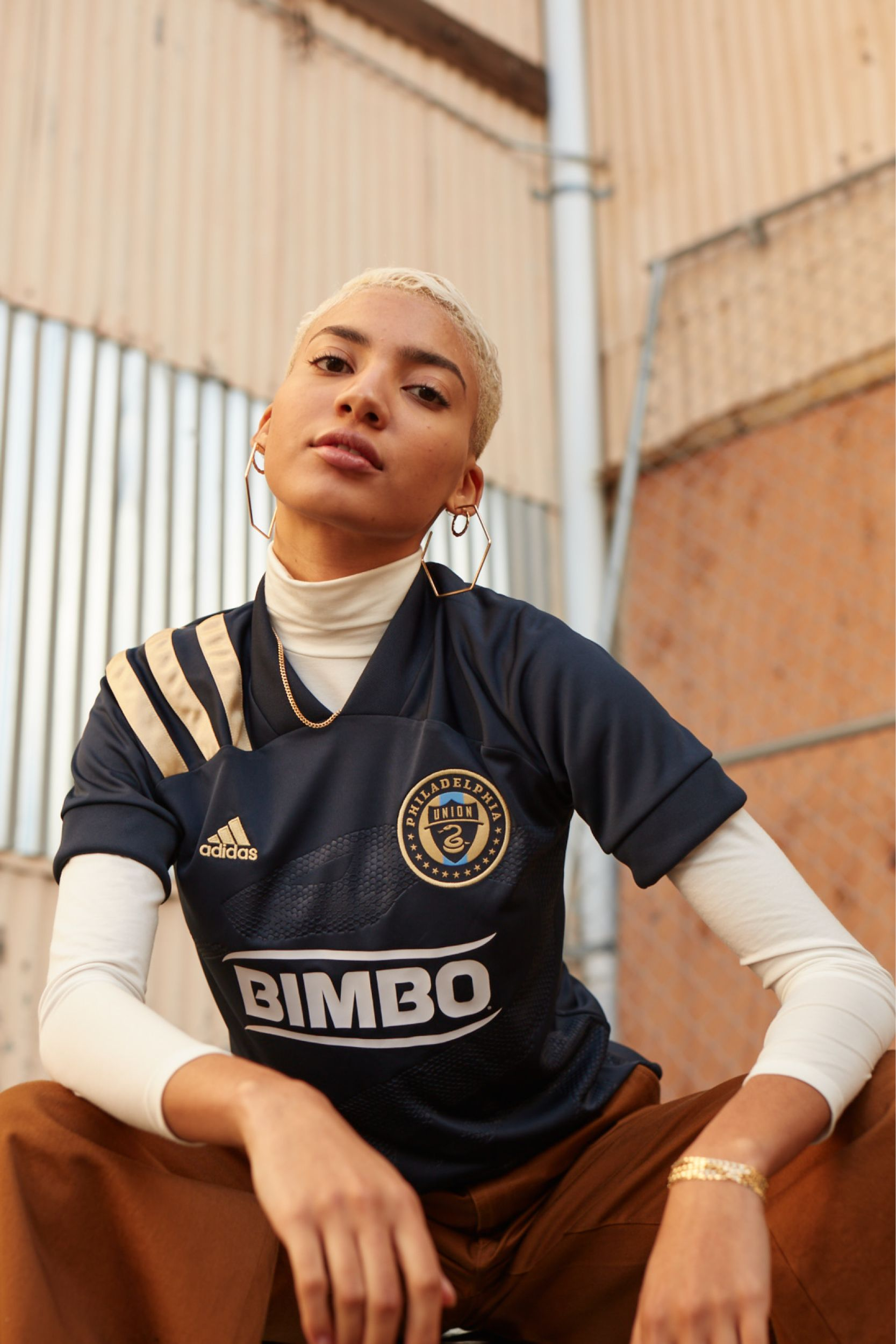 The 2020 Adidas X Major League Soccer Mls Jersey For The Philadelphia Union Stays Loyal To In 2020 Football Jersey Outfit Football Fashion Editorial Football Fashion