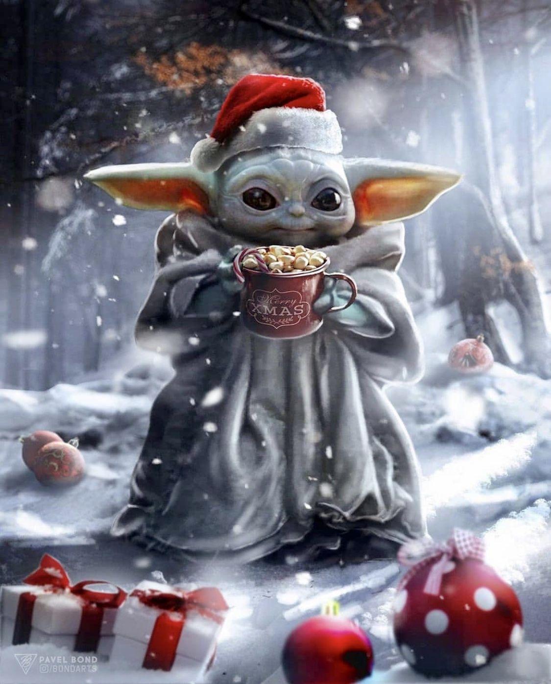 Christmas Baby Yoda Star Wars Pictures Star Wars Wallpaper Yoda Wallpaper
