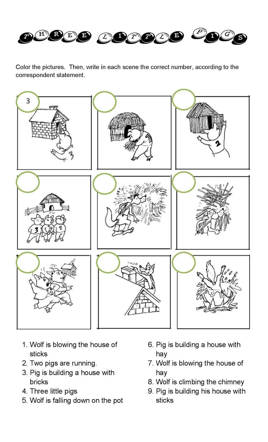 The Three Little Pigs Worksheets Three Little Pigs Little Pigs Sequencing Worksheets