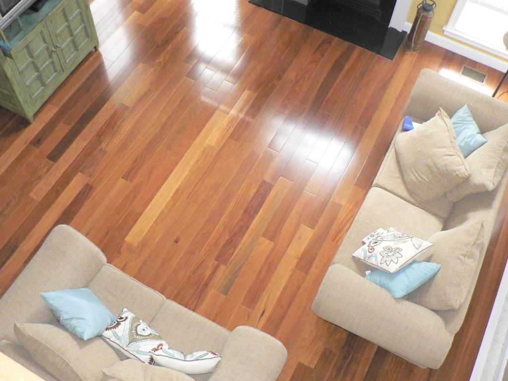 I Like The Colors This Customer Used With Bellawood Brazilian Teak Flooring Floor Installation Teak Flooring