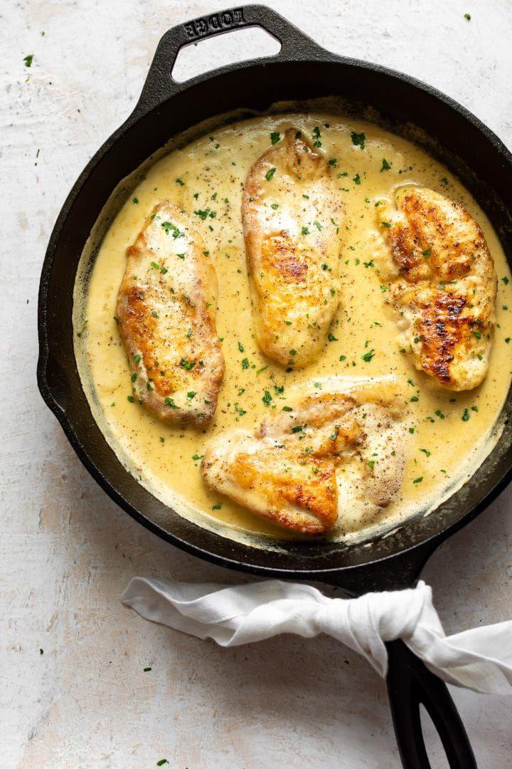 Creamy Honey Mustard Chicken • Salt & Lavender