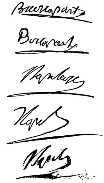 All Of These Are Napoleon S Signatures At Various Times Of His Life Napoleon French Revolution Napoleon Josephine