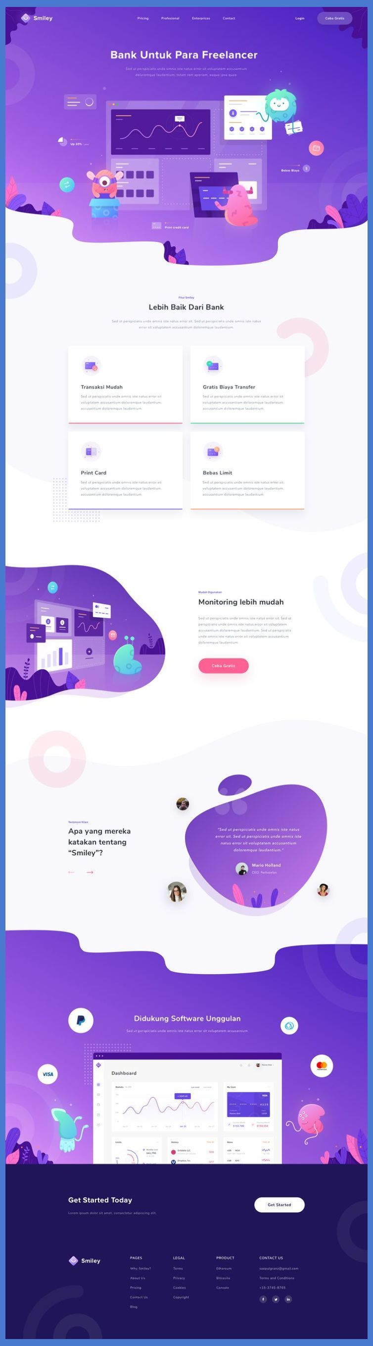 Landing Page Design Music Financial Landing Page Landing Page Design Landing Page Desi Web Design Tips Web App Design Web Layout Design