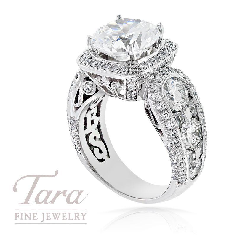 JB Star diamond ring with 310 ct center stone Tara Fine Jewelry