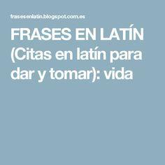 Citas en latin